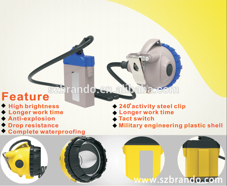 Brando KL-12LM The Brightest and Safest Cable Miner's Headlamp