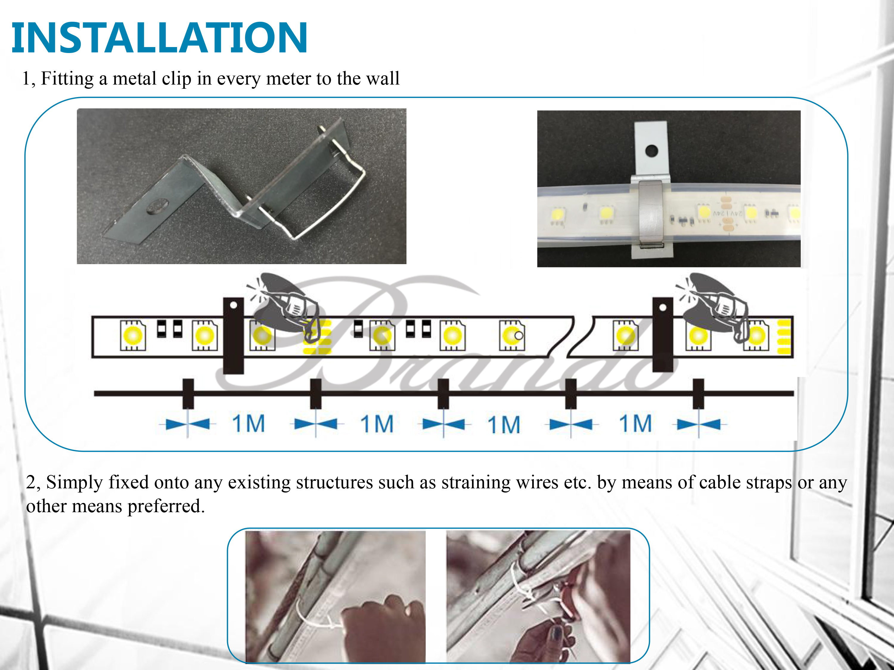 BO-SL60-24V(A) Explosion-proof Flexible LED Strip Lights with IP68 5M
