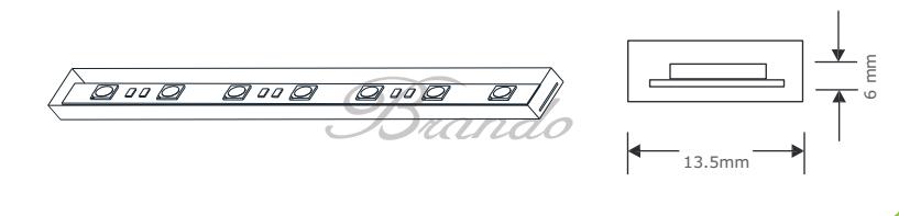 BRANDO BO-SL60-24(B) DC 24V NEW led strip light for underground 10M