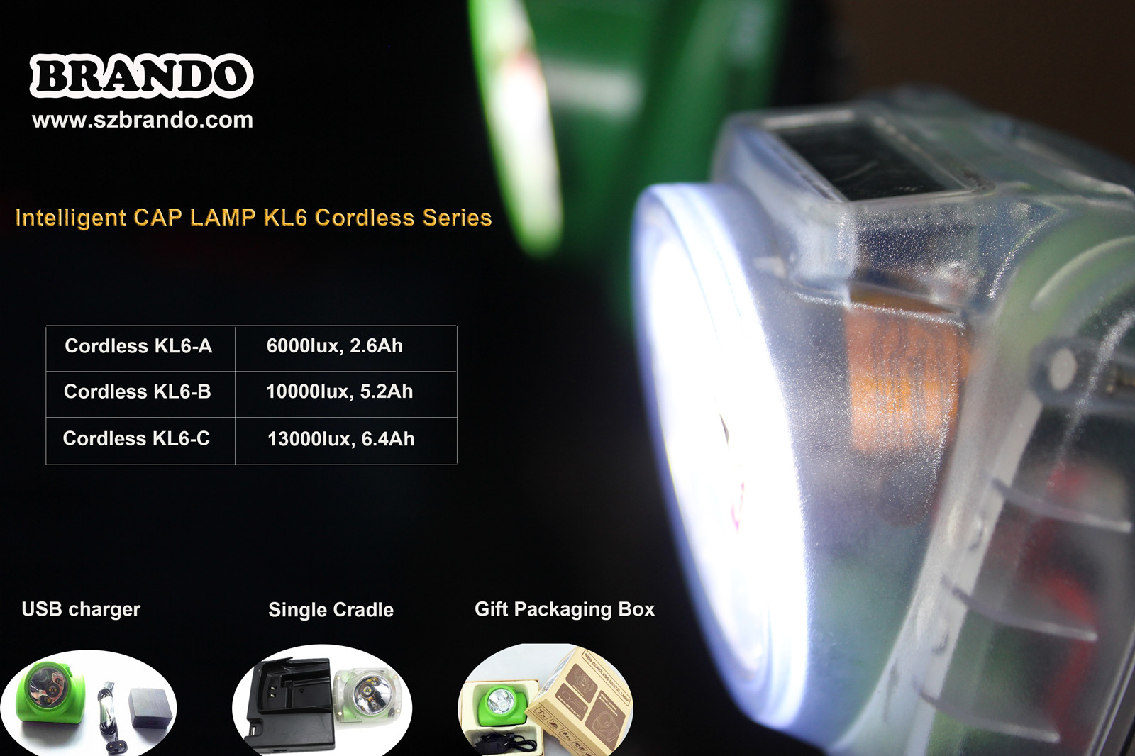 Brando KL6-C Cap Lamp's Manual