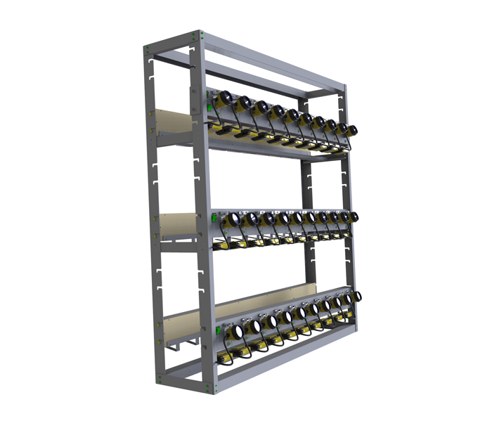 BRANDO 60 units Charger Rack with KL12LM Cap Lamp
