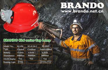 BRANDO 4 series cap lamp designed for underground mining field