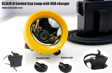 New customized mining lamp with USB cable charger