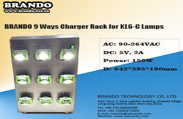 BRANDO cordless lamp charging rack