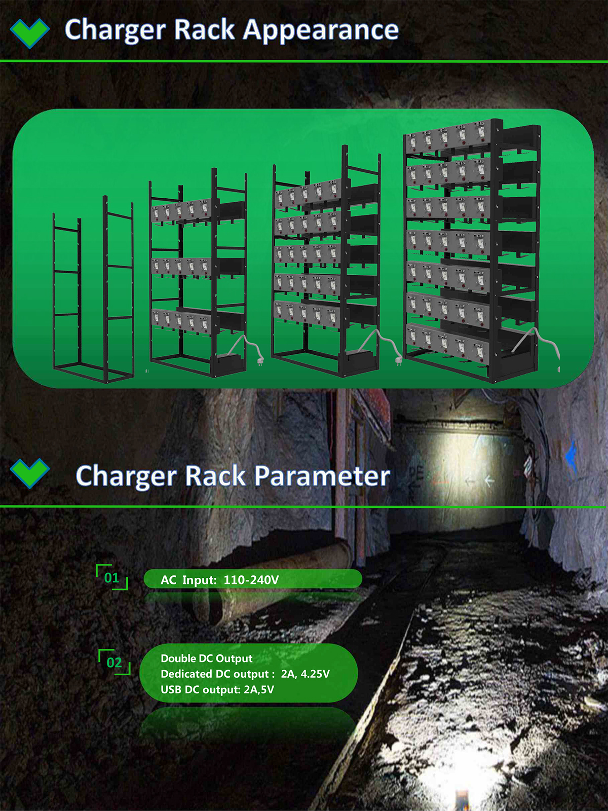 60 units charger rack with FCC