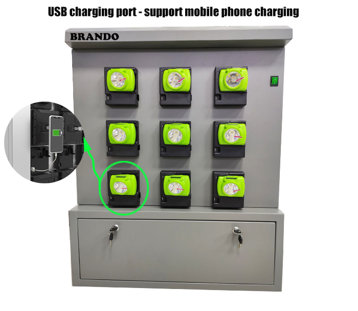 safety lamp charger bank