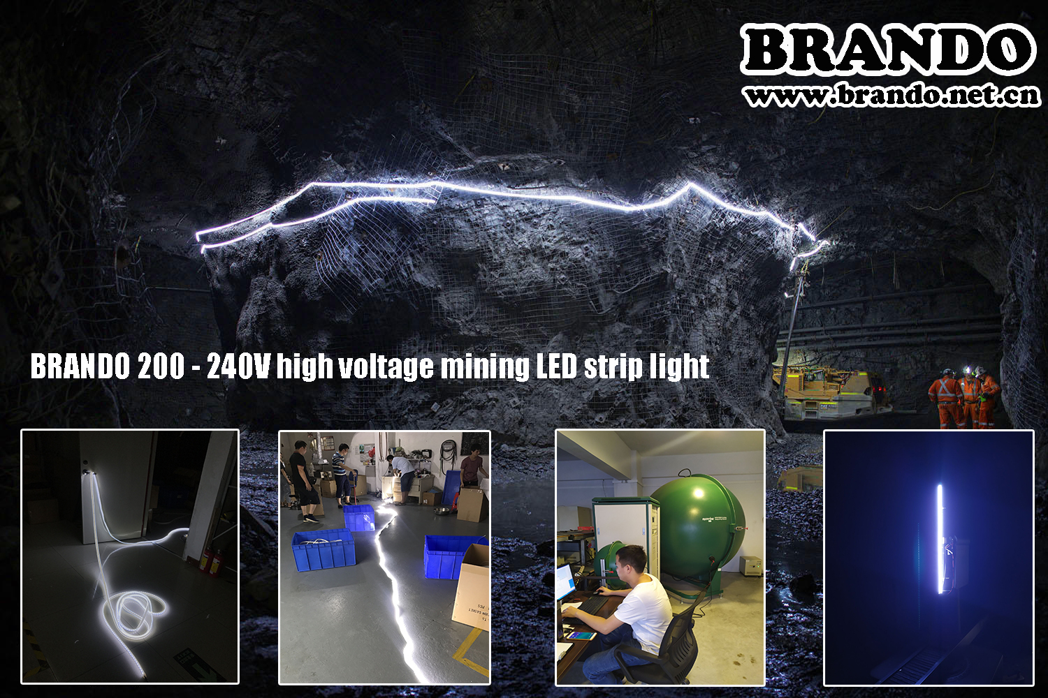BRANDO BO-SL60-110V(A) High Voltage Mining Strip Light